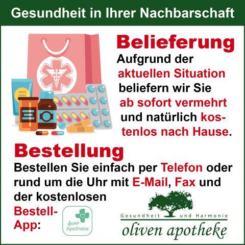 Botendienst Medikamentenlieferung Langenhagen Kaltenweide Krähenwinkel Oliven Apotheke